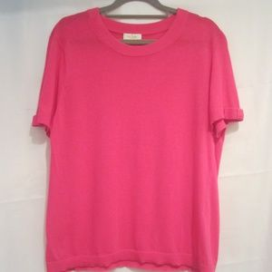 "Kate Spade XL Fuchsia Shirt Top Cotton 42"" Bust"